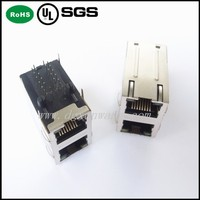 (2x1) Safe Rj45 Connector with Modules Transformer 100Mbps Rj45 Cat6 Connector