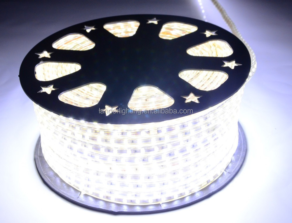 Factory direct sale 5050 SMD led strip lightings 220-240v 100m/roll with CE GS RoHS IP67