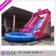 Giant Cheap Inflatable Water Slide with Big Pool