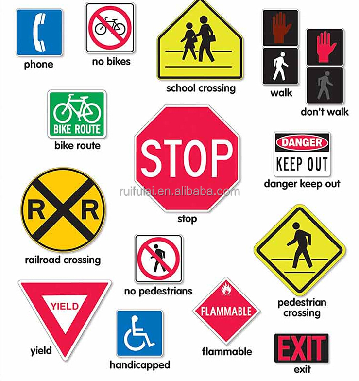 Favourable price high quality aluminum plate IP 65 octangle road traffic signs