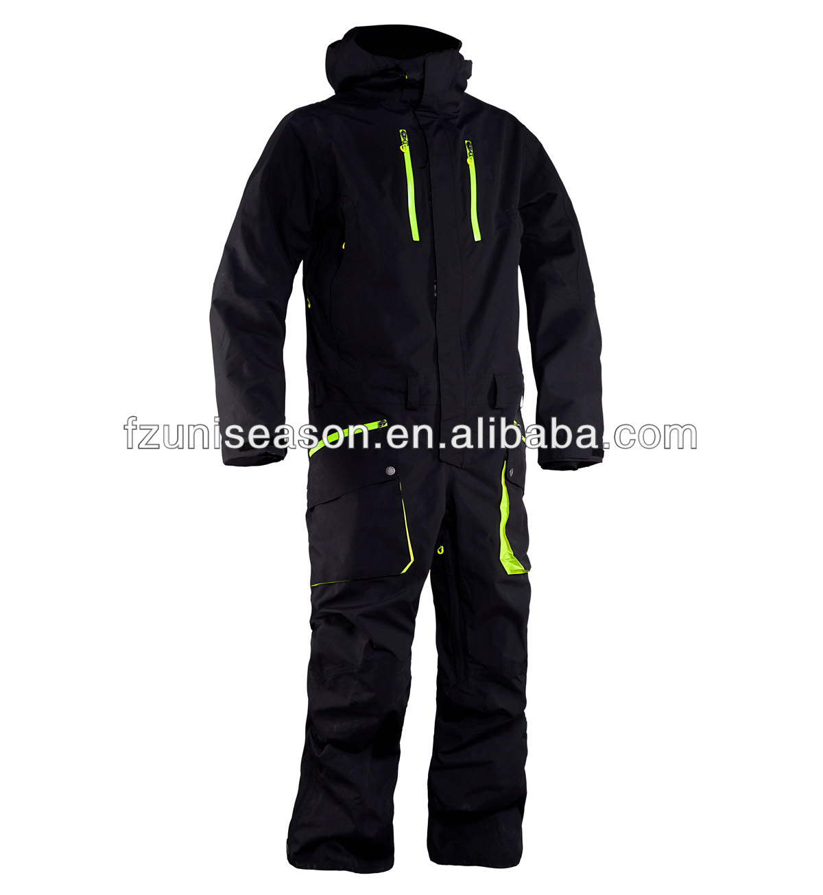 Waterproof one piece snow & ski suits for men