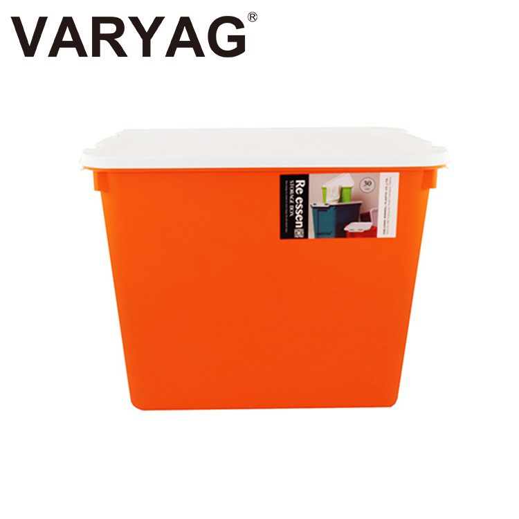 VARYAG Household storage bin 30L large capacity stackable office home decorative plastic storage boxes