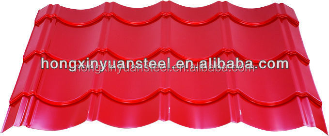 glazed tile/corrugated PPGI steel/metal/iron roofing sheet in RAL color from alibaba china