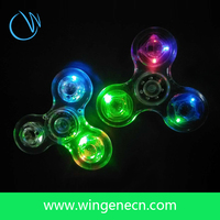 Luminous Clear Crystal Led Fidget Spinner