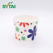Double pe disposable paper cup ice cream with lids