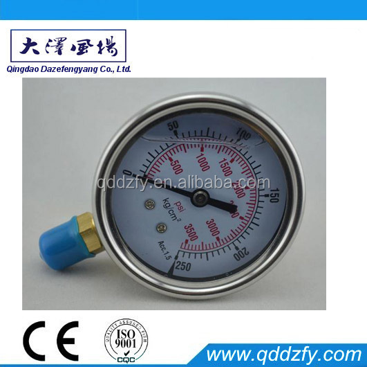 "4"" wika oil filled pressure gauge"