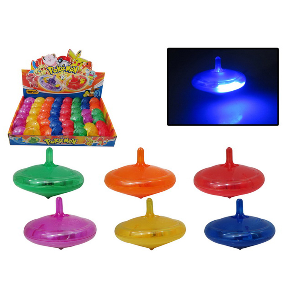 Cheap promotional mini plastic toy led spinning top