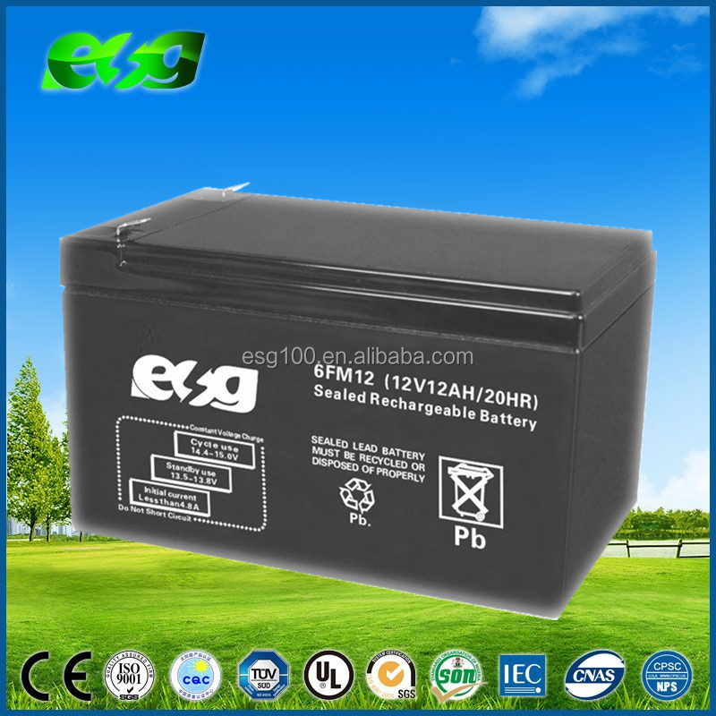 Sealed maintenance free lead acid 12v gel 12ah deep cycle battery for solar
