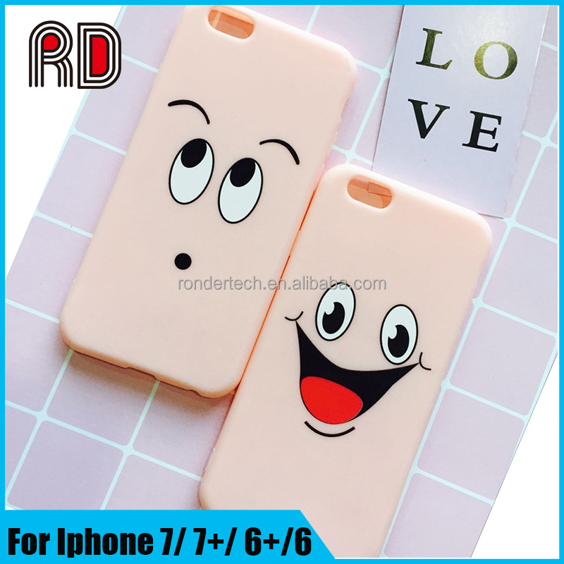 Wholesale price fancy face big eyes case candy color emoji cover tpu artictis phone case for iphone 6