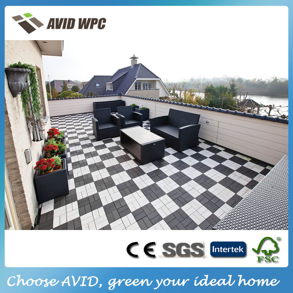 Low price and waterproof interlocking composite decking for Low price decking