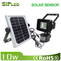 10W emergency solar led flood light with pir motion sensor