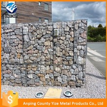 hole size 6-12cm aperture galvanized gabion baskets /hexagonal gabion box price