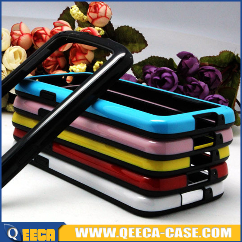 Dual color tpu pc frame bumper case for samsung galaxy s4 active