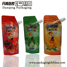 Guangdong danqing stand up pouch with corner spout, drink pouch with spout packaging D003