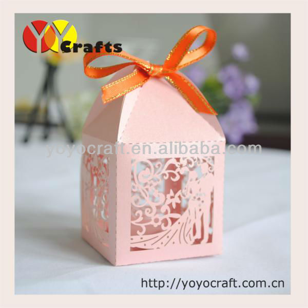 Party and wedding decorations laser cut bride and groom sweet and favor gift boxes souvenir candy wedding box