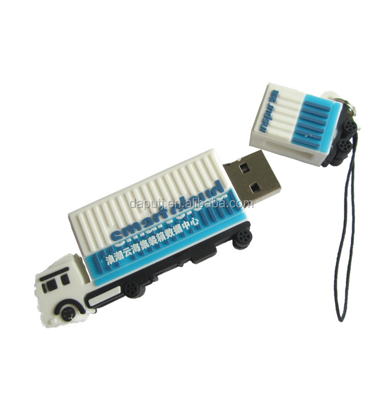 delicate truck usb memory stick soft pvc usb pen drive create any shape your design usb stick