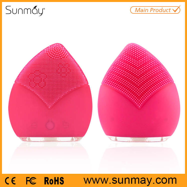 Skin Care Electric Silicone Facial Cleansing Brush Manufacturers, Sonic Facial Brush Wholesale