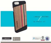 Engraving Logo OEM Supplier Super Cheap Price Black PC Natural Wood Phone Accessory Hot Sale 2015 Wooden Case for iPhone 6s