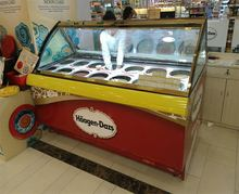 New Product Ice Cream Freezer -22 Celsius Supermarket Desert Coffee Shop Cabinet