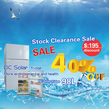 Special Offer ! 98L/ 138L/ 188L Solar Powered Fridge are now available