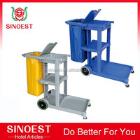 Hotel cleaning trolley housekeeping equipment, Utility Maid cart