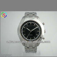 2013 watch mk, stainless steel men business watch, gems and stones watch