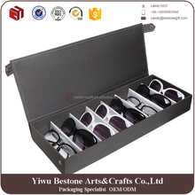 Modern design 8 compartment fabric sunglass display case