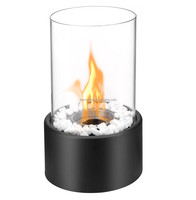 Inno-living coffee table fireplaces with glass tube mini fireplace