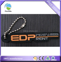 custom Car Rentals firm soft rubber finger-point metal ball chain keyring