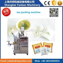 Shanghai manufacturers Automatic Small Filter sachet Tea Bag Packing Machine(inner bag and outer bag with thread)