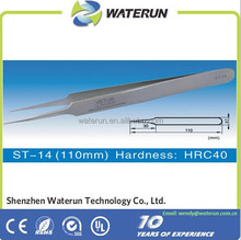 ST series high precision stainless steel tweezers/straight tweezers/curved tweezers