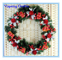 12 inch Lighted Outdoor Christmas Plastic Wreaths