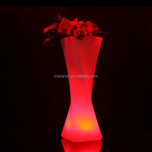 Christmas Outdoor Flower Pot Colorful Light Flower Planter
