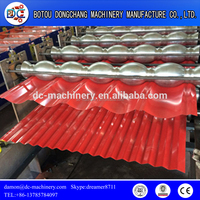 Metal Steel Roof Sheet Roll Forming Machine / Colors Coated Corrugated Metal Roof Panel Making Mchine