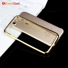 Mobile Phone Case Transparent Clear Electroplating TPU Case for iPhone 7 7Plus Ultra Thin Soft Tpu Back Shell