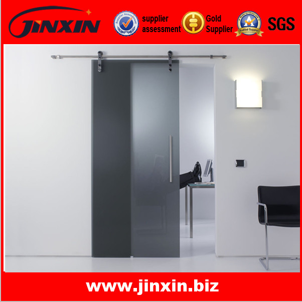 8mm Tempered Glass Sliding Commercial Door With Instruction Drawing