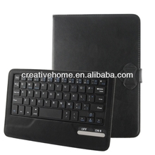 Universal Bluetooth 3.0 ABS Keyboard + Detachable Leather Case with Holder for iPad mini / mini 2 Retina