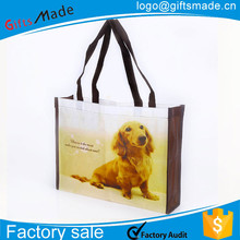 wholesale custom logo tote nylon foldable vegetable shopping bag