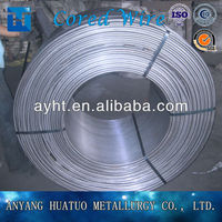 China pure Carbon cored wire for steelmaking
