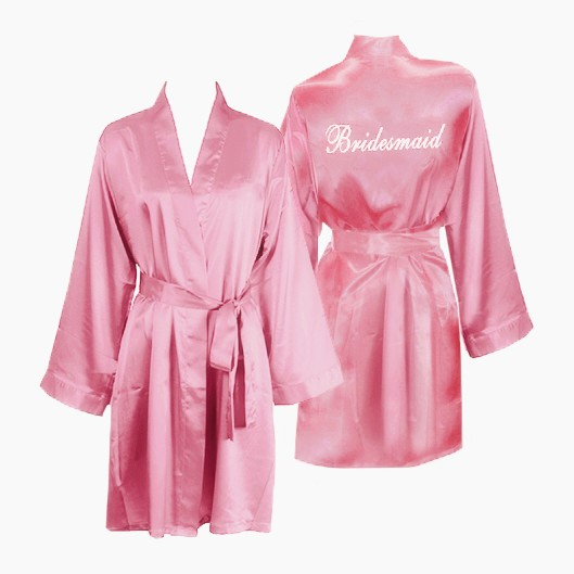 cheap bridal silk robe