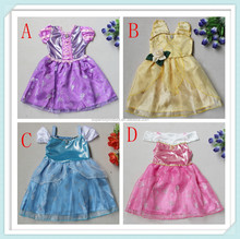 New Cinderella Limited Edition Dresses for Girls Princess Cinderella Party Costume Kids Summer Dress Cosplay Clothes Size 3-10Y