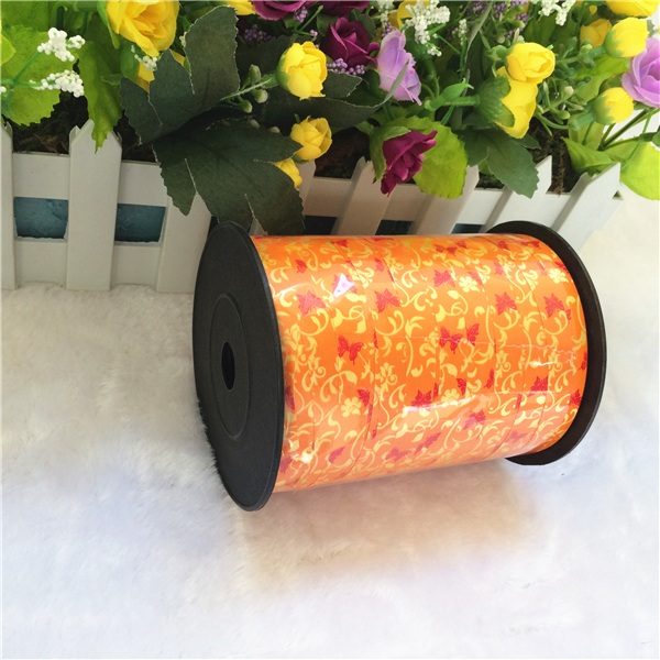 Customized design printed plastic balloon curling ribbon spools