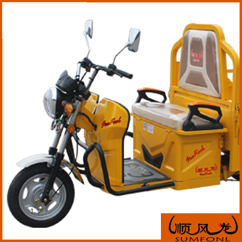 Three wheel electric bike passengers electric tricycle taxi