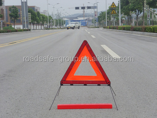 China factory traffic safety car red led warning triangle