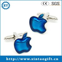 Sticker with Epoxy cheap custom cufflinks for mens and women