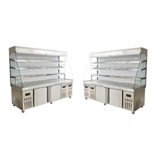 Conventional Vegetables And Fruit Freezer And Refrigerator Container Combined For Supermaket Restaurant Equipment Kitchen