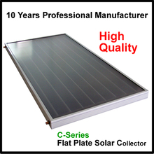 supply parabolic trough flat plate solar thermal collector with black chrome selective coating absorber for high class project