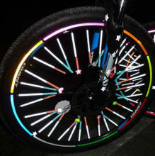 Reflective Bicycle Wheel Sticker/bike wheel reflective pvc sticker