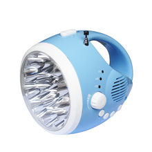 Powerful led torch light rechargeable dynamo radio flashlight