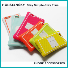2017 cheap silicone shockproof kickstand mobile phone case